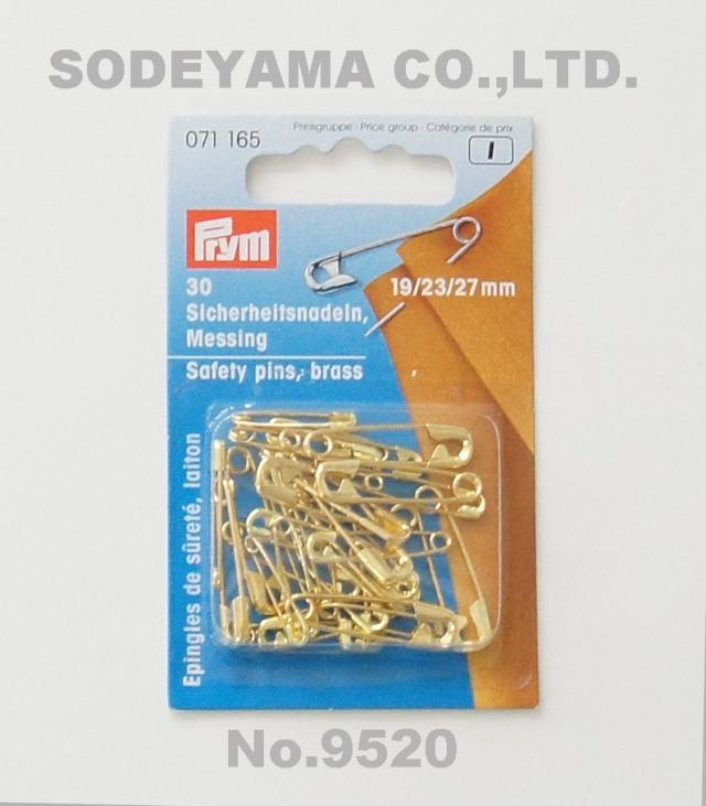 9520 PRYMプリム・ドイツ・安全ピン(ゴールド)30本セット