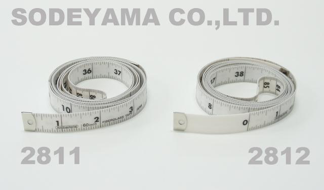 2811-2812 日本製耐久・抗菌インチメジャー60inch・150cm/15mmJIS1級認定