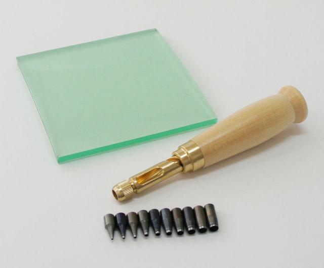 野中製作所 スクリューポンチ 特別特価セット 本体+替刃(10本付)+ビニ板セット