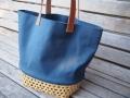 竹と帆布のカゴバッグ