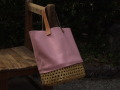 crafty竹と帆布のカゴバッグ