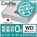 日本製 セレクトオーダー ポケットコイル マットレス フレックス ワイドダブル