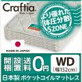 日本製 ポケットコイル マットレス 竹ヘリンボーン ワイドダブル