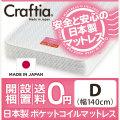 日本製 ポケットコイル マットレス ジュノ ダブル