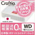 日本製 ポケットコイル マットレス ジュノ ワイドダブル