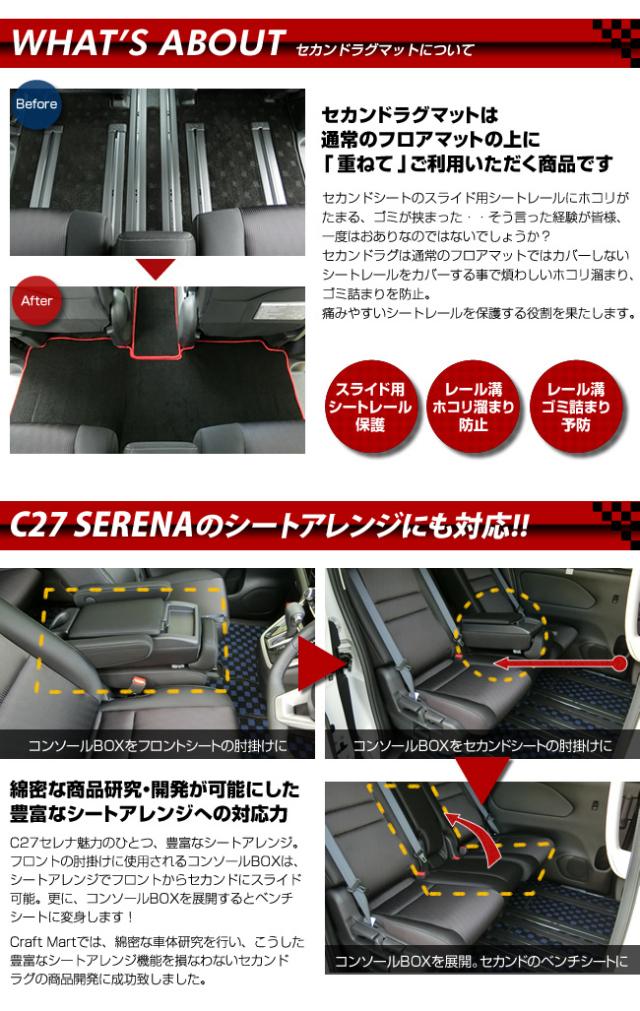 C27型セレナ,専用設計セカンドラグマット