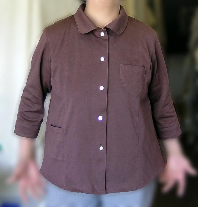 カノコ七分袖ブラウス