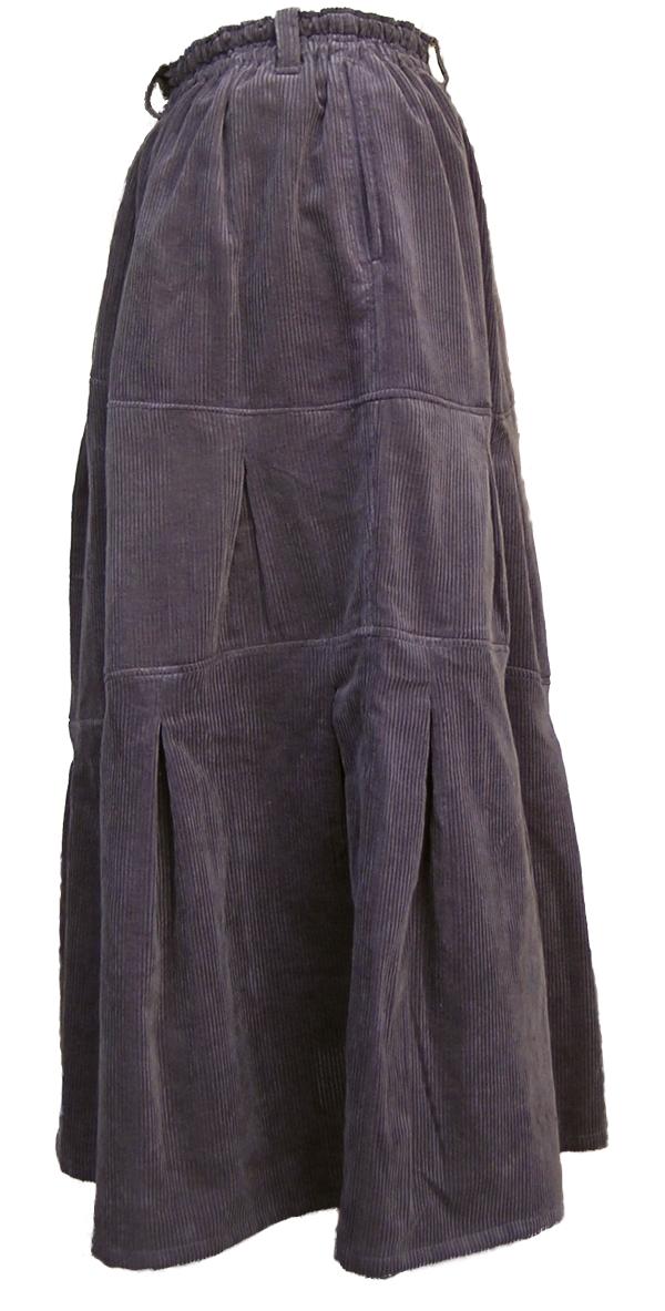 茶黒のポッポスカートの脇側を撮影