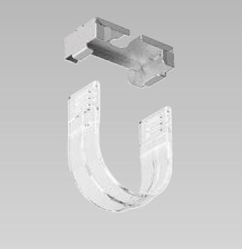 LED蛍光灯 メンテナンス用専用落下防止ホルダー T8用 ホルダーセット(一個) 樹脂(ポリカーボネート・透明)