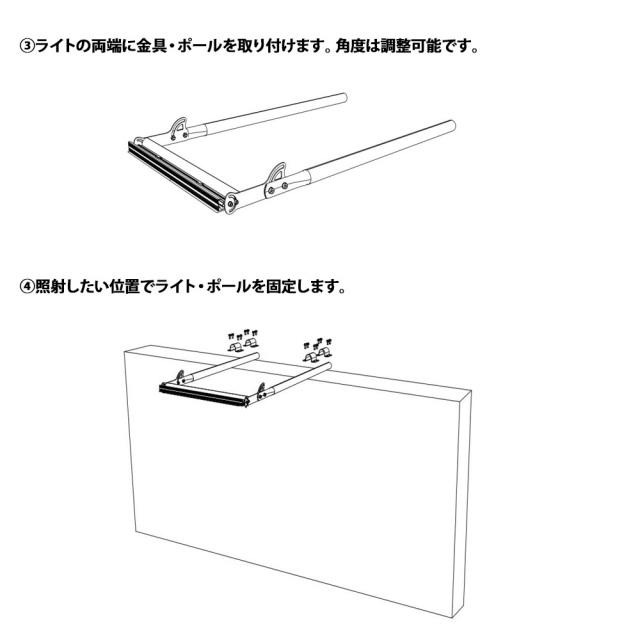 メガソーラー 太陽光 投光器 LED 夜間自動点灯5
