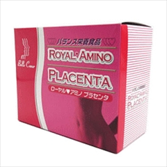必須アミノ酸 8種・ビタミン18種・ミネラル20種を含有パーフェクトフーズ!人気のポーレン配合健康補助食品アミノ酸46にプラセンタを配合! 良質のたんぱく質補給に! : ローヤルアミノ プラセンタ 3g×60本(1か月分)