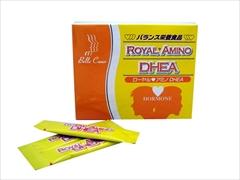 【送料無料】必須アミノ酸 8種・ビタミン18種・ミネラル20種を含有パーフェクトフーズ!ポーレン配合健康補助食品アミノ酸46に元気の源 ソフォン配合: ローヤルアミノ DHEA (1か月分)×4箱セット