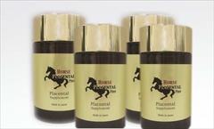 【送料無料】【サロン店販品】18種類のアミノ酸・EGF・FGF・IGFなど話題の美容成分を数多く含む馬プラセンタ 貴重で高品質・安全な馬プラセンタエキスを高濃縮: リセル 馬プラセンタ プロ 250mg×180粒(約2か月分)×4個セット