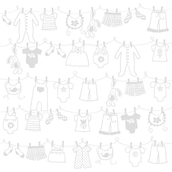 Bazzill Basics Glazed Clothes line: Lily White
