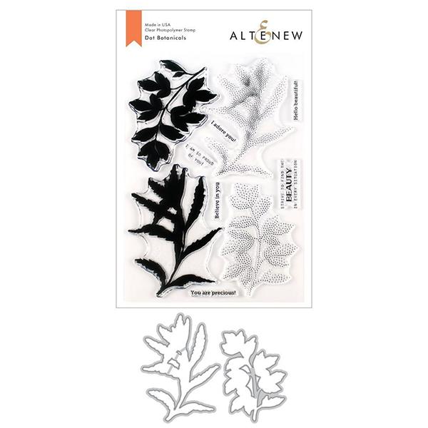 アルテニュー Dot Botanicals Stamp & Die Bundle