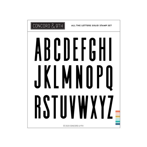 コンコード&ナインス All the Letters Solid
