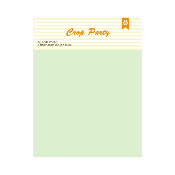 【クロップパーティー/Crop Party】カードペーパーセット - うす草(8.5 x 11)