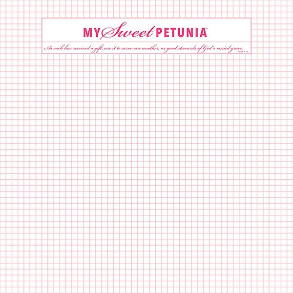 My Sweet Petunia MISTI Memory Grid Paper Pad