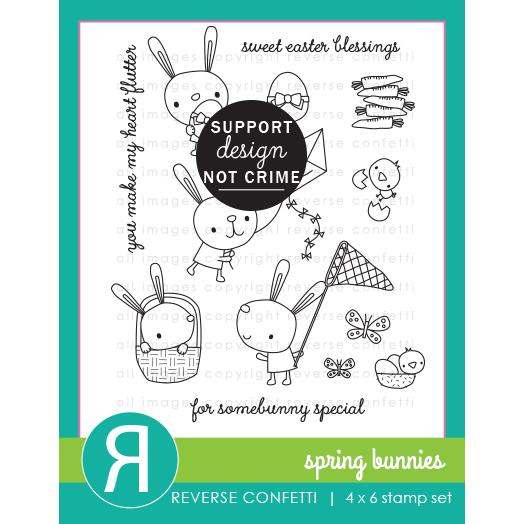 リバースコンフェッティ  Spring Bunnies クリアスタンプ
