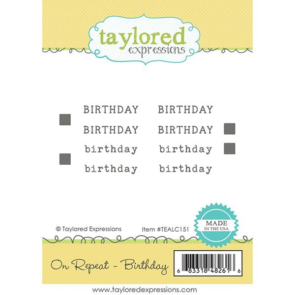 テイラードエクスプレッション On Repeat - Birthday
