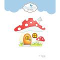 エリザベスクラフトデザイン Mushroom House Folding Card