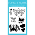 フローラ&フォーナ Free to Fly Butterfly スタンプ