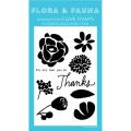 フローラ&フォーナ Solid Flowers Thanks スタンプ
