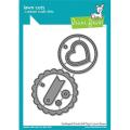 ローンフォーン scalloped circle gift tag
