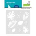ローンフォーン  tropical leaves stencil