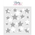 プリティピンクポッシュ Layered Stars Stencils (2 Pack)