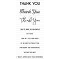 ペーパートレイインク Sentiment Staples: Thank You Mini Stamp Set