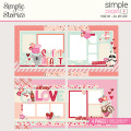 シンプルストーリーズ All My LoveSimple Pages Page Kit