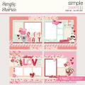 シンプルストーリーズ All My LoveSimple Pages Page Kit