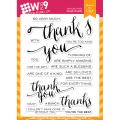 Wプラス9 Hand Lettered Thanks スタンプ