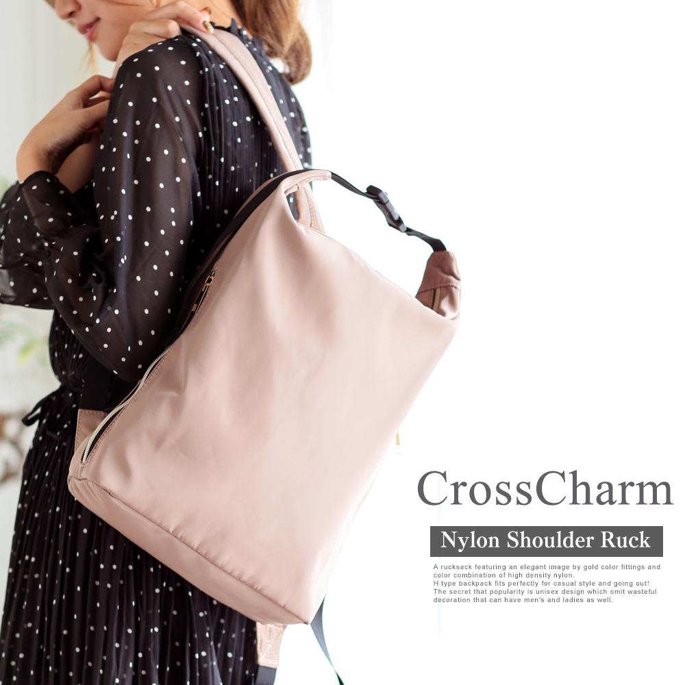 Cross Charm高密度ナイロンショルダーリュック 【CRN80039】