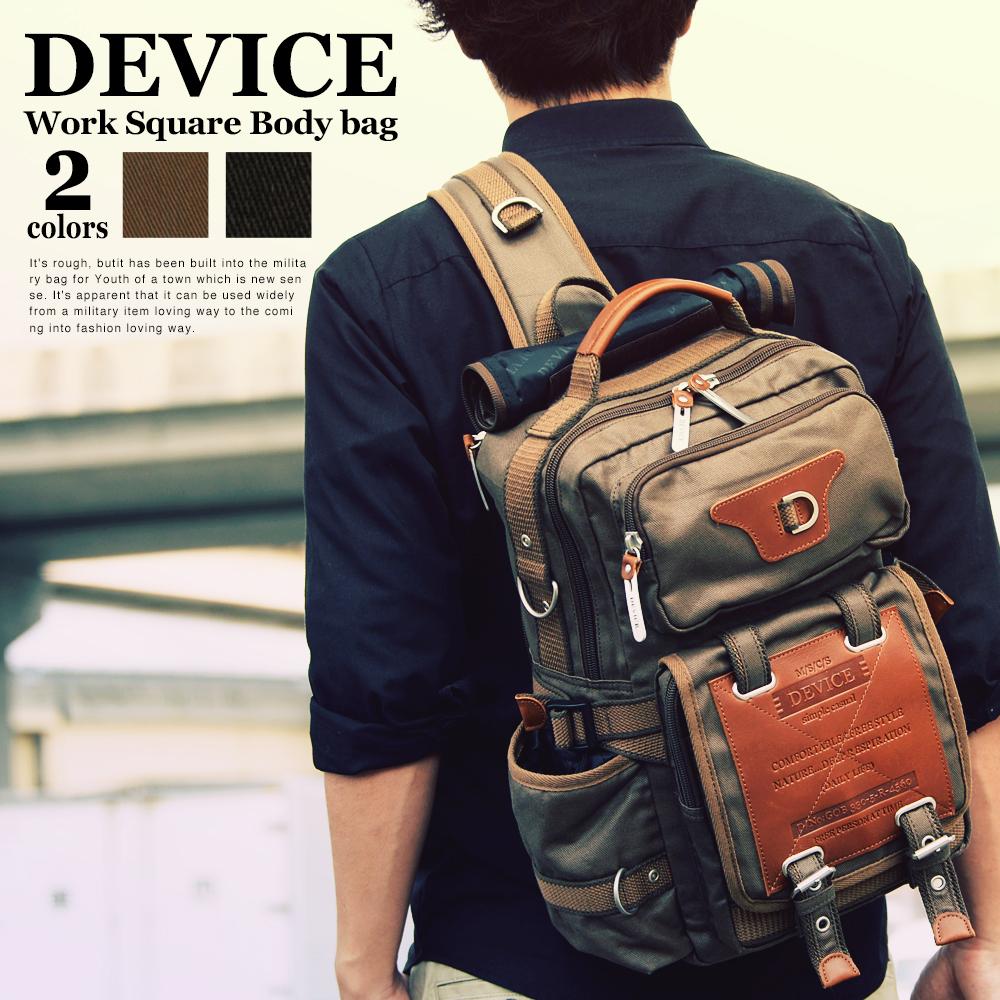DEVICE Work 2way スクエアボディバッグ【DBH-50110】