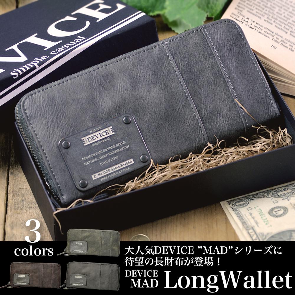 DEVICE MAD ラウンド長財布【DPG60058】