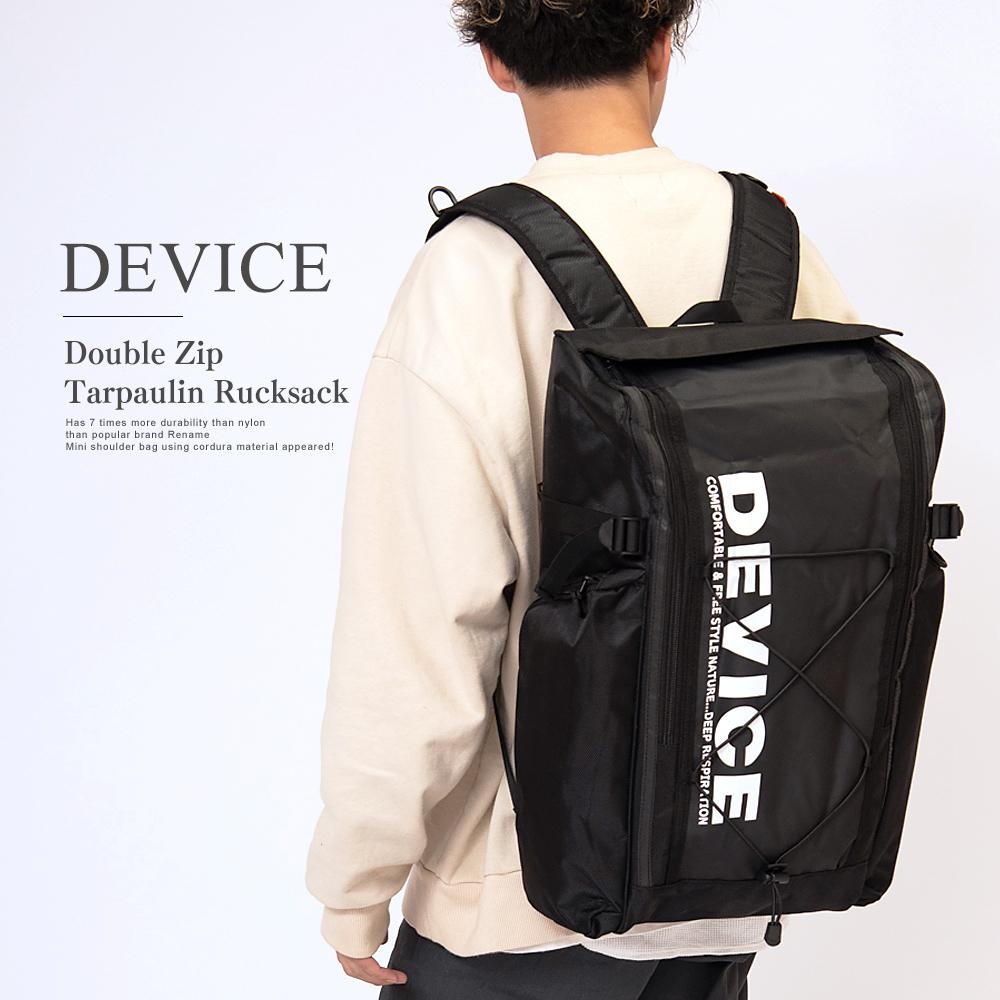 DEVICE ダブルジップ ターポリン リュック【DRN90059】