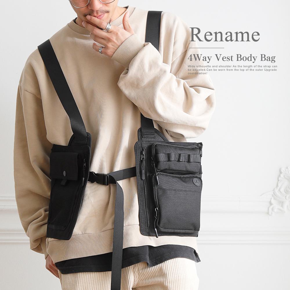 Rename CORDURA 4WAY ベスト ボディバッグ【RBN90079】