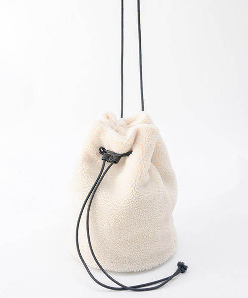 Rename ファー/ボア 巾着ハンドバッグ