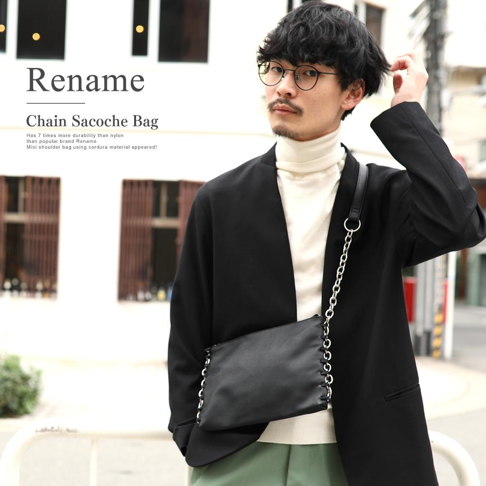 Rename PU チェーン サコッシュバッグ