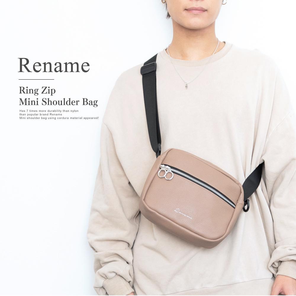 Rename 合皮 リングジップミニショルダーバッグ【RSG91029ZZ】