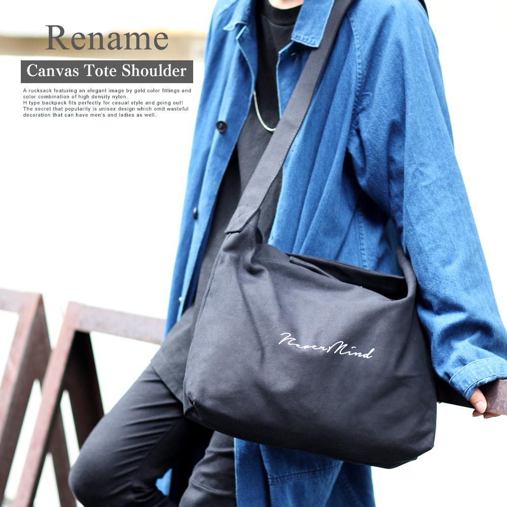 Rename プリント帆布トートショルダーバッグ 【RSH80028ZZ】