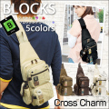 BLOCKS 2 ミニ ボディバッグ メンズ向けボディーバッグ帆布本革