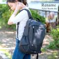 Rename ナイロン ダブルジップバックパック【RRN90049】