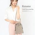 Rename 本革 バラ刺繍チェーン ショルダーバッグ