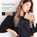 TransitGate G5 スエード ダブルジップ二つ折り財布 【TGP9058】