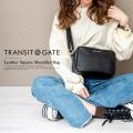 TransitGate G2 本革 スクエア ショルダーバッグ