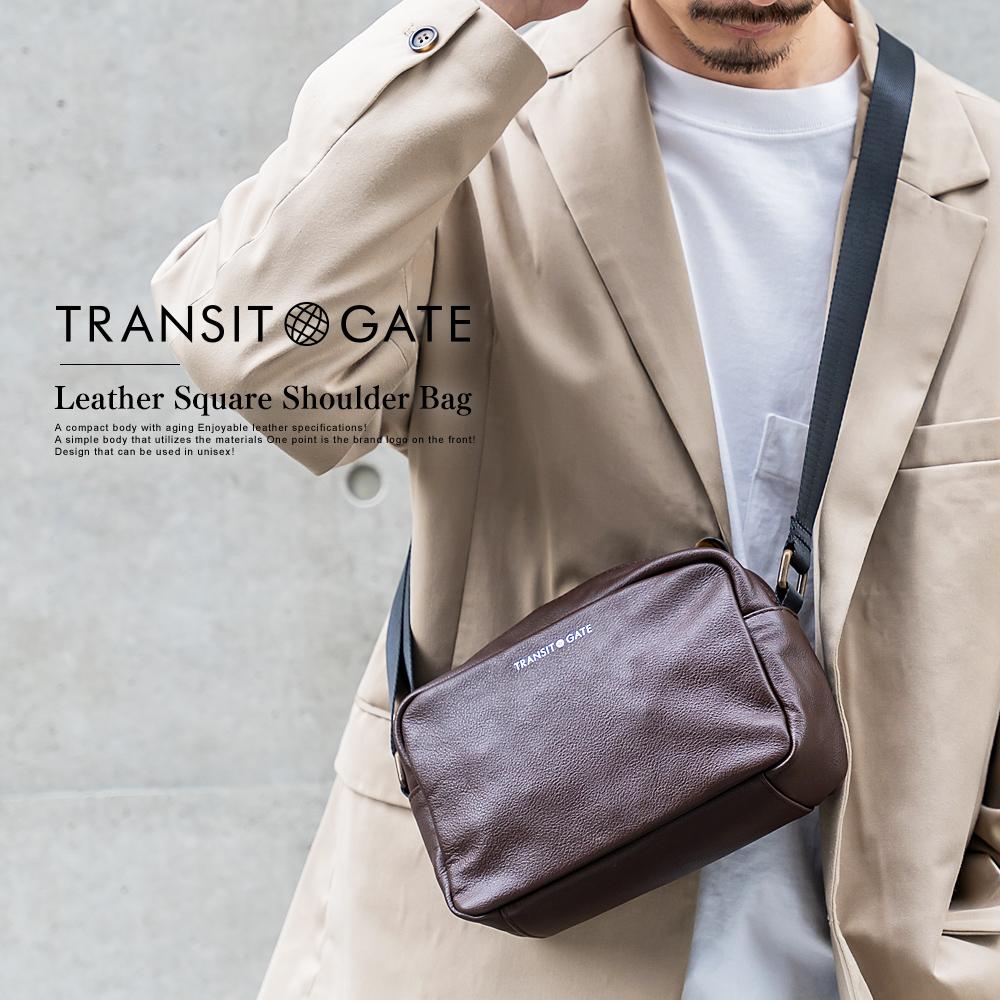 TransitGate G2 本革 スクエア ショルダーバッグ  【TGS20068ZZ】