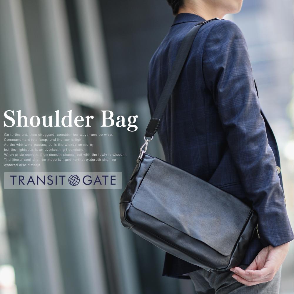 TransitGate G2 本革ショルダーバッグ